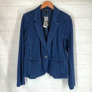 Lane Bryant Jean Jacket 14 Stretch Denim Blue NEW